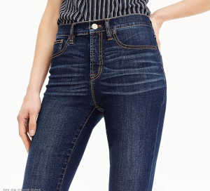 """9"""" high-rise toothpick jean in Point Lake wash with Tencel™"""