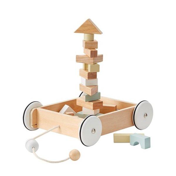 木质玩具积木车