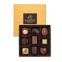 Godiva 金色礼盒9个装