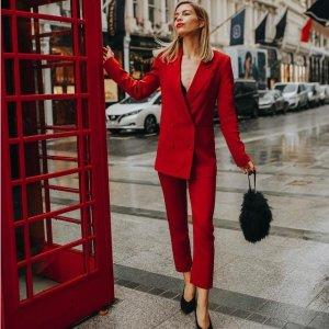 度假风蕾丝长裙$90鼠你省钱:新年开运 穿红色才是正经事 从内到外备起来