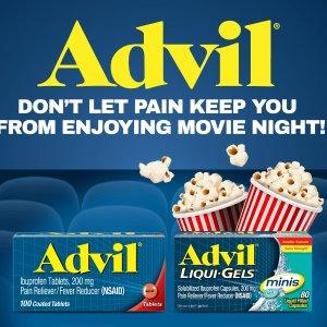 Get 1 Movie TicketWalmart Advil Movie Program