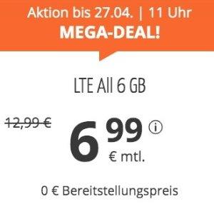 月租仅€6.99 代号入网送€6.82