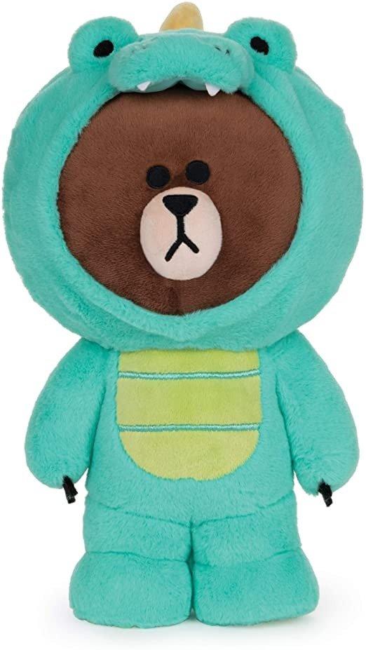 "GUND LINE Friends Dino Brown Dinosaur Bear Plush Stuffed Animal, 12"""