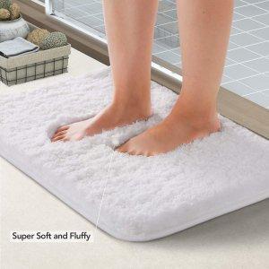 Lifewit 防滑吸水浴室地垫 24x16