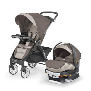Amazon Chicco Bravo LE Trio Travel System, Latte