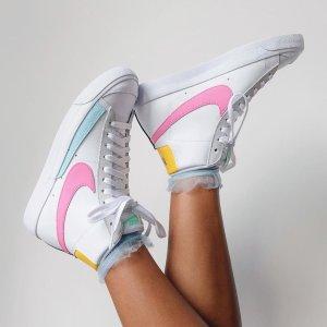 5折起 马卡龙AF1码全Nike官网 运动鞋全新补货 $78抢白色双勾Court