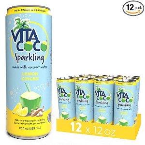气泡椰子水 柠檬姜汁口味 12罐装