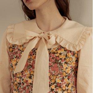 低至5折 £113收封面娃娃领衬衫Dundrop 韩国小众设计师品牌 秋冬新款仙女穿搭
