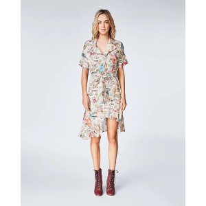Nicole Miller印章图案连衣裙