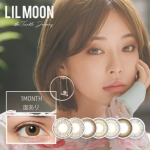 LIL MOON EYE DOLL [1 Box 1 pcs × 4 boxes] / Monthly Disposal 1Month Disposable Colored Contact Lens DIA14.5mm