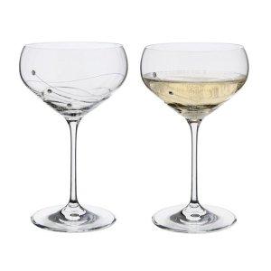 Dartington达丁顿水晶奢华香槟浅碟杯 - 2只装