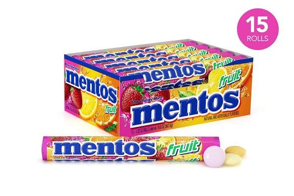 薄荷软糖 水果缤纷口味 15条装