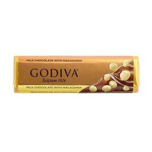 GodivaMILK CHOCOLATE WITH MACADAMIA BAR
