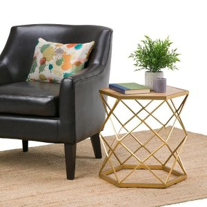 Simpli HomeKristy Metal/Wood Accent Table