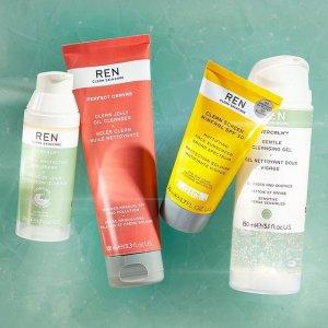 全线7.5折 清洁面膜仅$36REN 英国有机护肤品牌 纯天然使用无负担