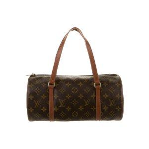 Louis VuittonMonogram Papillon 30 腋下圆筒包