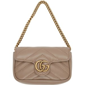 Gucci- Pink GG Marmont Coin Case Bag