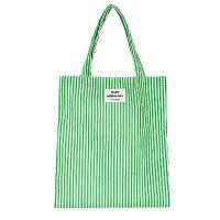 Mads Norgaard 绿色条纹帆布袋