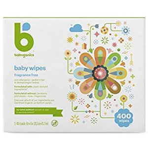 Amazon.com: Babyganics Face, Hand & Baby Wipes, Fragrance Free, 400 ct, Packaging May Vary: Health & Personal Care
