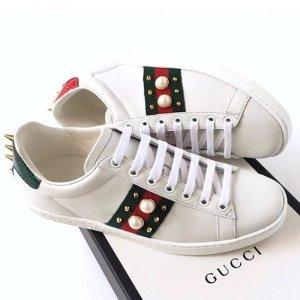 $840 (澳洲官网$1005)变相8折仅剩一双:Gucci 珍珠小白鞋定价优势 速收!