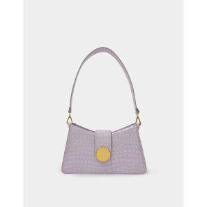 ellemeBaguette Bag in Purple Croco Pearl Leather