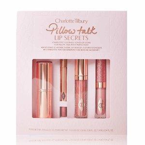 €45.6收封面4件套惊喜上新:Charlotte Tilbury Pillow Talk 唇妆4件套