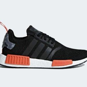 $98(原价$200)黄金码全Adidas官网 NMD R1红底运动鞋