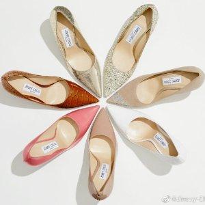 低至3折+最高送$1200礼卡最后一天:Jimmy Choo 美鞋美包热卖 Romy高跟鞋$270