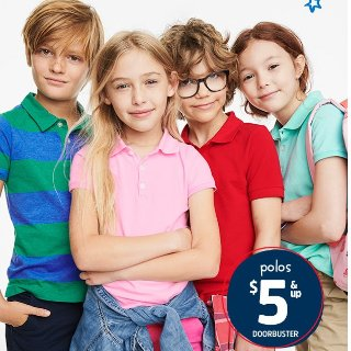 一律$5折扣升级:OshKosh BGosh 儿童Polo衫优惠 大童小童码都有