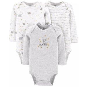 Carter's婴儿有机棉包臀衫3件套
