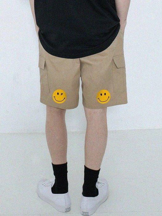 笑脸工装短裤