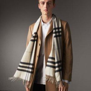 $295(原价$435)Burberry 经典羊绒围巾特价热卖