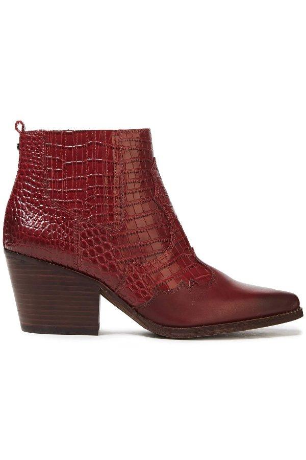 Smooth 压纹短靴
