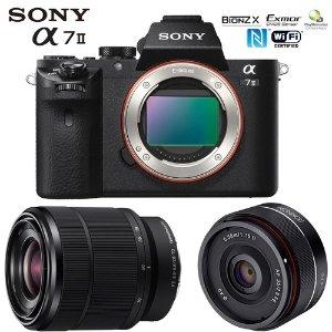 Sonya7 II 全幅微单相机 + 28-70mm F3.5-5.6 + Rokinon 35mm f/2.8 镜头套装