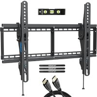 TV Wall Mount, Tilting TV Mount Bracket for Most 37-70 Inch Flat Screen/Curved TVs, Low Profile Wall Mount with Max VESA 600x400mm, Holds up to 110 lbs, Fits 16