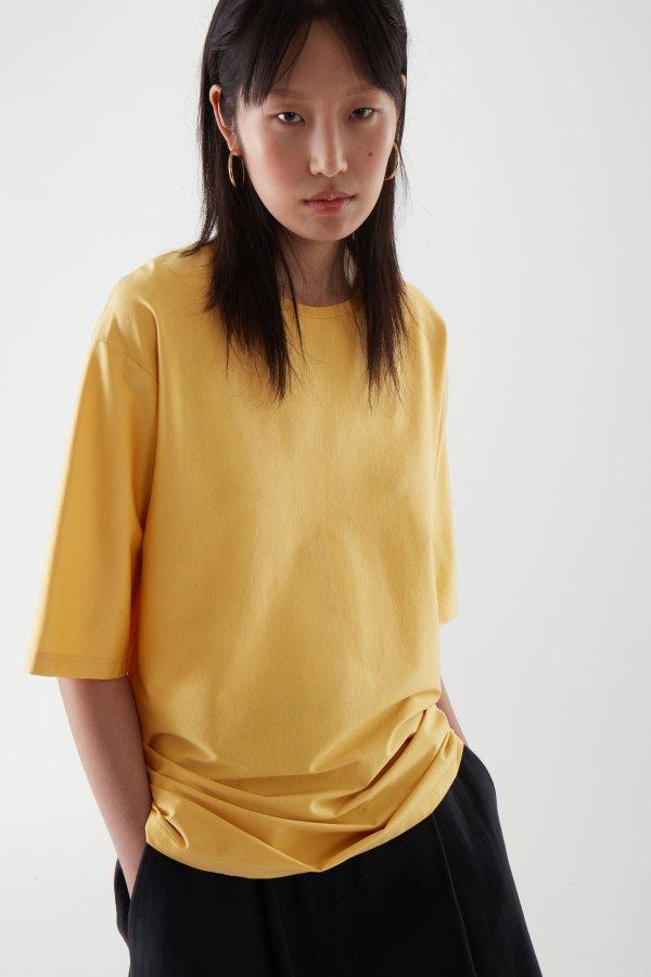 蛋黄色T恤