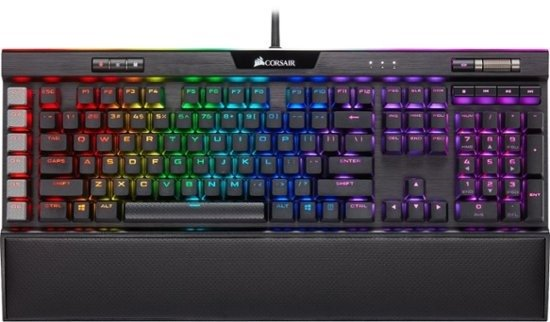 - Gaming K95 RGB PLATINUM XT Wired Mechanical CHERRY MX Speed RGB Silver Switch Keyboard with RGB Back Lighting - Black