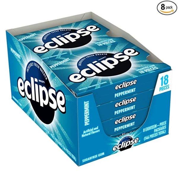 ECLIPSE 薄荷无糖口香糖,8盒