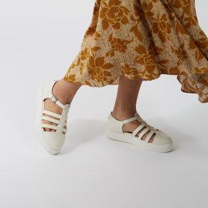 Matt & Nat女款白色复古凉鞋