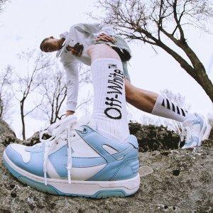 5折起 £122收箭头小白鞋Off-White 夏季大促开始 超全Logo、箭头款式参与