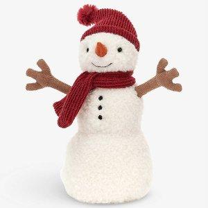 £16起收 圣诞系列 快来rua!Jellycat 圣诞老人提前来了!超可爱雪人、格纹裙兔子上新