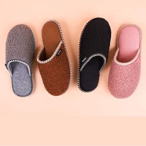 $11.99(原价$17.99)HomeTop 居家暖暖拖鞋 记忆棉拖+摇粒绒衬里 舒适度王炸