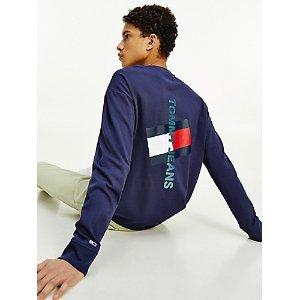 TOMMY JEANSOrganic Cotton Vertical Tommy Logo T-Shirt | Tommy Hilfiger