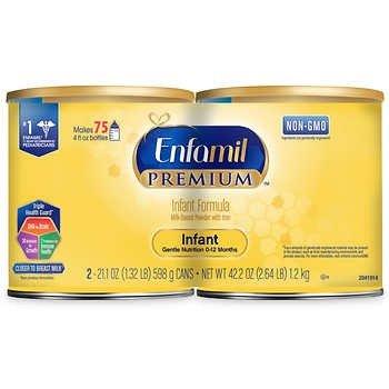Premium 婴儿奶粉 21.1 oz, 2罐装共1.32磅