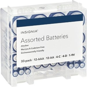 $11.99Insignia AAA 7号 / AA 5号碱性电池 33颗