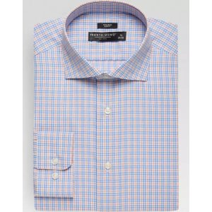 3 for $85Orange and Blue Check Slim Fit Dress Shirt - Men's Shirts | Men's Wearhouse