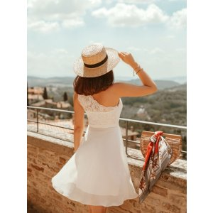 Ever-PrettyShort One Shoulder White Party Dress