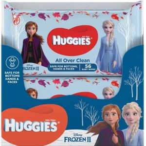折后€8.44收10包 敏感肌可用HUGGIES 冰雪奇缘限量款湿巾热卖 温和清洁不刺激