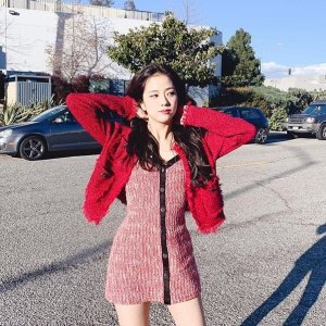 Maje李溪芮、Blackpink-Jisoo同款网红连衣裙裤