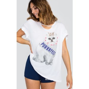 Purrfect Rivo Tee - Wildfox